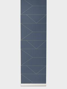 Lines Wallpaper - Dark Blue