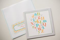 ABC baby shower invitations