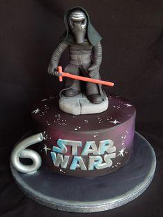Kylo Ren Star Wars cake. Quite a contrast from... - Elizabeth Miles Cake Design