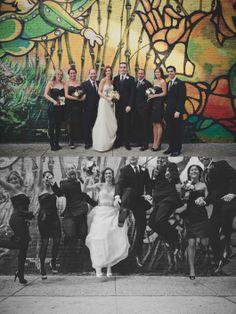 Una boda de invierno en Brooklyn - Damas de honor y padrinos