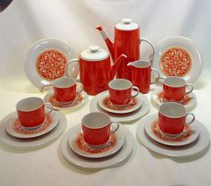 Royal Doulton Seville TC 1085 21 Piece Dessert Tea Coffee Set   eBay