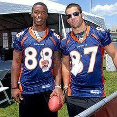 D Thomas and Decker Denver Broncos