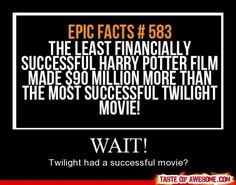 I wonder what films they were for both. Twilight and harry potter