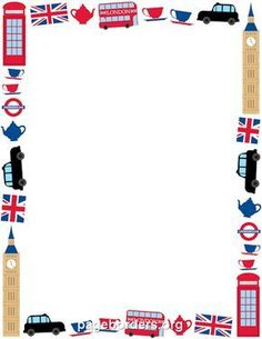 Free london border templates including printable border paper and clip art versions. File formats include GIF, JPG, PDF, and PNG. Borders For Paper, Borders And Frames, English Day, British Party, Create Flyers, London Party, Page Borders, Microsoft Word, English Activities
