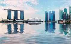 Download wallpapers Marina Bay Sands, Singapore, 4k, skyscrapers, modern architecture, Marina Bay