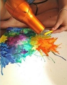 A different way to do Crayon Art