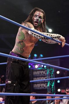 This tattooed, face painted, rainbow haired, nails painted, pierced wrestler saved me. And I wouldn't change a single thing. I wouldn't be here now and I certainly wouldn't be me. Thank you Jeff hardy, for everything.