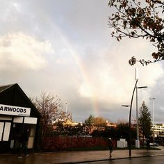 A brief #rainbow over #Preston this morning!