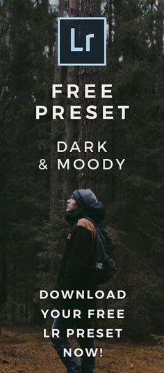FREE Dark Moody Lightroom Preset - Signature Edits - Improve Your Photography