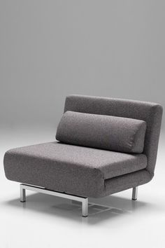 Mobital:  Iso Convertible Chair-Bed (Charcoal Tweed)