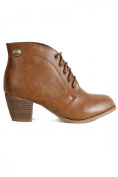 Break Line Ankle Boot - Tan