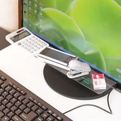 965d01c2c17 Details about Stick on Monitor Shelf Desk Organizer Mobile Phone Stationery  Holder