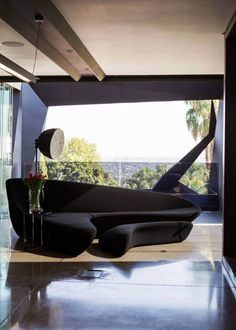 This sumptuous modern residence was designed by Nico Van Der Meulen Architects, located in Johannesburg, Bedfordview, South Africa. Indoor Outdoor, Architect House, Facade House, Modern House Design, South Africa, Concrete, Steel, Mansions, Interior Design