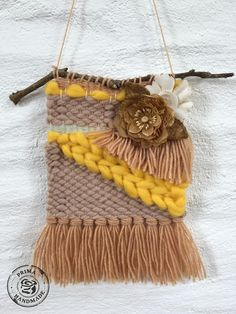 After seeing the cute weaving on the PPP challenge photo of course I had to join in! Using yarn and embellishments from the Aspen blush kit, a Finnabair flower and some gold foil color bloom spray I created this mini wall hanging. The yellow roving from the kit is the perfect pop of summer colour for your weaving.  Prima Fiber Arts loom Aspen Blush 586034 Prima color bloom gold foil 573805 Prima Finnabair alterable flowers 963255