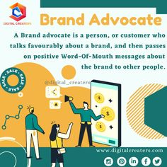 A brand advocate is a group of customers that promotes your brand by giving their positive outlook. They talk about a brand favourably and specifically. They helps grow your brand by sharing the brand to their network. For more information regarding digital marketing and social media marketing visit us. #brandambassador #influencer #brand #branding #ambassador #entrepreneur #digitalcreaters #follow #like #explore #marketing #brandresearch #promotion #digitalmarketing
