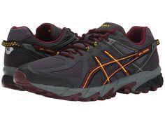 ASICS ASICS - GEL-SONOMATM (DARK GREY/ROYAL BURGANDY/YELLOW) MEN'S RUNNING SHOES. #asics #shoes #