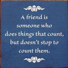 A friend is precious!