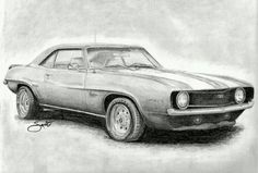 car drawing This image reminded me of the car from Supernatural, an American TV series. It is so accurately drawn, and the tone of pencil that has been used, works really well. Car Drawing Pencil, Pencil Drawings, Album Design, Supernatural, Truck Art, Car Drawings, Car Sketch, Car Painting, Automotive Design