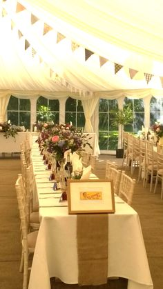 Simply beautiful summer wedding marquee in a Hampshire garden...