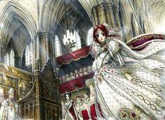 """Esther Blanchett is one of the main protagonists of Trinity Blood. She is introduced as a novice nun and rebel who meets Abel Nightroad in Istvan. After the Mark of a Lady Saint/Imitation Star Arc, Esther becomes The Lady Saint. Esther is described as a seventeen-year-old girl with fair skin, red hair and """"lapis lazuli"""" blue eyes, akin to Albion nobility. Similar to Mary Spencer, Esther has a star-shaped birthmark on the right-side if her torso. In the anime, her hair is noticeably…"""