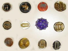 Orplid buttons. Orplid was the name of the company. These are lampworker items