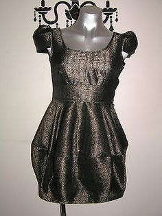 H & M STUNNING TULIP SHIMMER PARTY DRESS SIZE 8