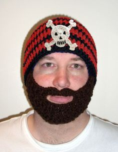 Free Crochet Patterns Hats With Beards : crochet pattern for beanies and beards on Pinterest ...