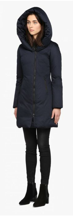 Navy down coat- winter style