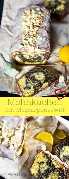 Rezept für Mohnkuchen mit Mascarponeswirl