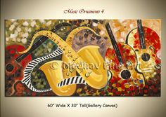 Abstract Music Art on Large Canvas by Madhav