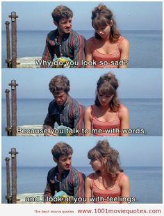 Pierrot le fou, French film by Jean-Luc Godard, starring Anna Karina and Jean-Paul Belmondo. Anna Karina, Love Movie, Movie Tv, Movie Scene, Citations Film, Film Anime, Star Francaise, Tumblr Love, Movie Quotes