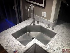 Exclusive 316L Marine Grade Stainless steel sink and faucet by Rachiele. www.Rachiele.com