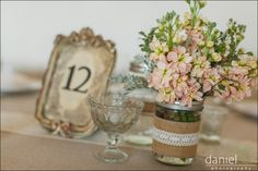 Burlap & Lace Mason Jars (Set of 24)