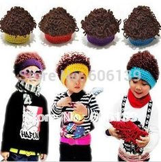 >> Click to Buy << fashion punk rock Wig kid cap knitted korean style children baby boys hat free shipping #Affiliate