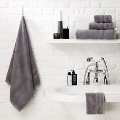 Endless love: Contemporary designs to last a lifetime. John Lewis Supima towels. #johnlewis #bathroom Registering your list is free and easy - simply call or visit your local shop, or go online: www.johnlewisgiftlist.com