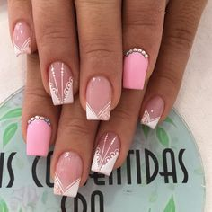 Short Nail Designs, Powder Puff, Nail Art Galleries, French Nails, Nail Manicure, Short Nails, Acrylic Nails, Make Up, Spa