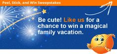 Cuties:Peel, Stick, and Win Sweepstakes. Visit GiveawayHop.com for more #sweepstakes and #giveaways