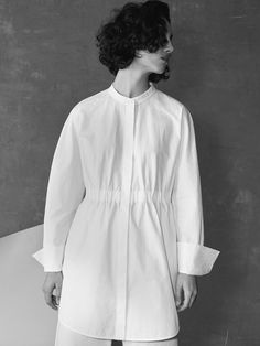 Minimal Outfit, White Shirts, Work Casual, Aesthetic Clothes, Fashion Details, Fashion Outfits, Womens Fashion, Cotton Dresses, Women Wear