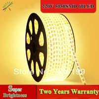 LED strip 220V warm white cold white Blue Yellow 8W 60 leds /M tape RGB Led Strip Waterproof 5050 SMD , Indoor / Outdoor neon   http://www.aliexpress.com/store/product/5050-LED-strip-220V-warm-white-cold-white-Blue-Yellow-8W-per-meter-60-leds-tape/436199_1574801918.html