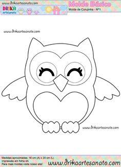 pattern for a cute owl (could be from felt, paper, fabric .): - pattern for a cute owl (could be from felt, paper, fabric …): Das schönste Bild für diy face ma - Owl Patterns, Applique Patterns, Applique Designs, Quilt Patterns, Sewing Patterns, Owl Applique, Stencil Patterns, Stencil Designs, Motifs D'appliques