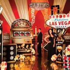 Create a high rolling casino adventure in Las Vegas for your high school Prom with this Let the Good Times Roll Complete Prom theme.