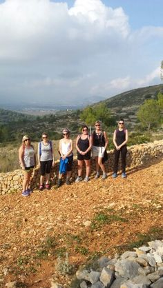 Some guests during the fabulous afternoon hike in the beautiful Spanish countryside.