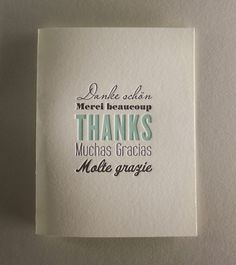 Many Thanks Letterpress Thank You Card - doesn't have to be these exactly, just need pretty thank you cards