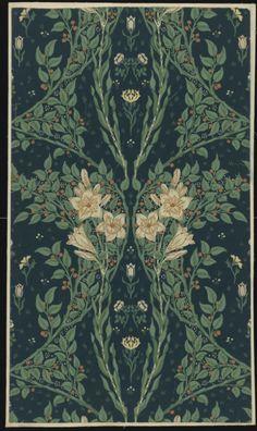 walzerjahrhundert:  Walter Crane, 'Francesca' wallpaper, 1902