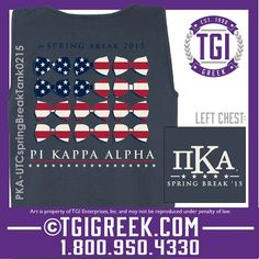 TGI Greek - Pi Kappa Alpha - Spring Break - Greek Tank #tgigreek #pikappaalpha #springbreak