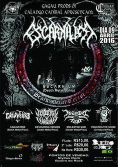 09/04/16 - Escarnium, Pancreatite Noise, Cadaverise, Devouring Virgins, Molested God: Bueiro do Rock - Teresina - PI