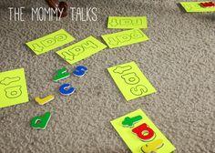 Homemade Montessori reading game