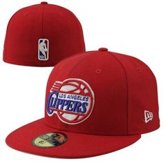 New Era LA Clippers Flat Brim 59FIFTY Fitted Hat - Red b3a19ecea5ba