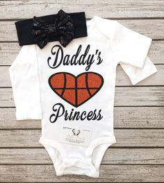 Daddys Princess Basketball Bodysuit Princess Shirt by BellaPiccoli