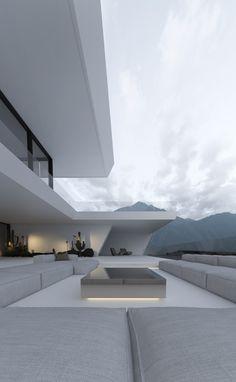 Project / 191 on Behance Architecture Design, Modern Architecture House, Beautiful Architecture, Dream House Exterior, Dream House Plans, Design Your Dream House, Modern House Design, Modern Exterior, Exterior Design